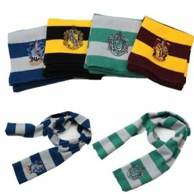 Harry Potter Gryffindor Slytherin Ravenclaw Hufflepuff Knit Scarf Cosplay Gift