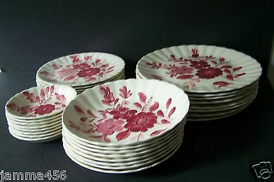 Blue Ridge China Southern Potteries Breckenridge Red Dinnerware