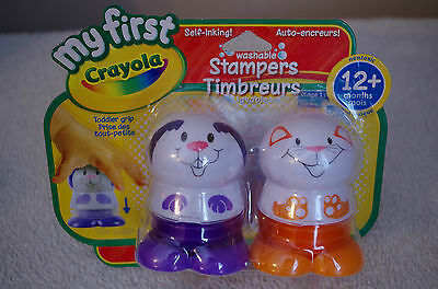 MY FIRST Crayola Self-Inking Washable Stampers NONTOXIC Toddlers Grip 12 Month+