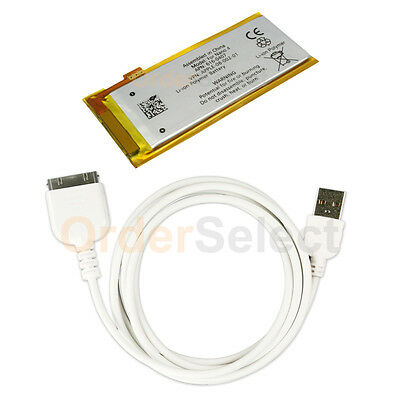 Battery+USB Travel Data Sync Charger Cable for Apple iPod Nano Gen 4G 4th Gen