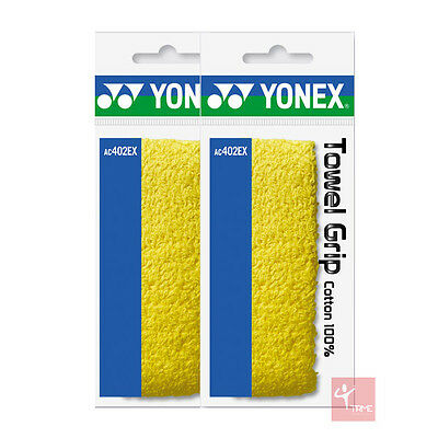 Yonex AC402EX Towel Grip - Yellow (2 Grips Included)