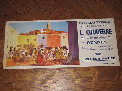 Buvard L.chuberre Rennes Combustibles  Village