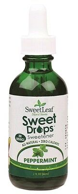 Sweet Leaf Stevia Liquid Peppermint 60ml - 288 Servings