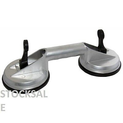Aluminium Dual Double Suction Cup Glass Lifter Dent Puller 80KG
