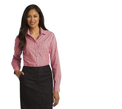 Port Authority Ladies Long Sleeve Gingham Easy Care Shirt L654 NICE