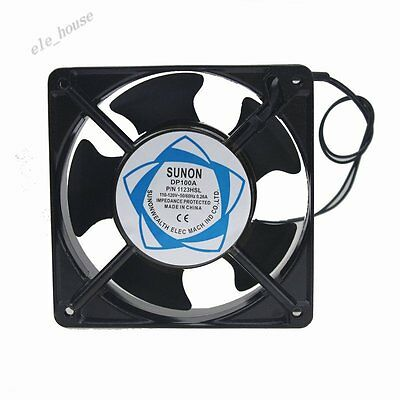 Sunon 110V AC Brushless Computer Cooling Industry Fan 12cm 120mm 120x38mm 2Wire