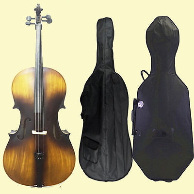 4/4 Size Cello Comes With Hard Case ,Bag, Bow ,Rosin Bridge & Bow C-C Model SET