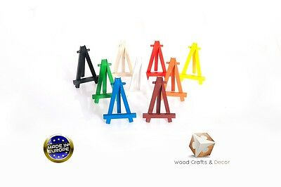 WOODEN EASEL 12 cm (5'') MANY COLORS ARTIST ART STAND FOLDABLE