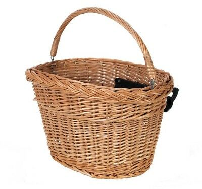 EMKcycles Wicker Basket Quick Release Bicycle Cycle Bike