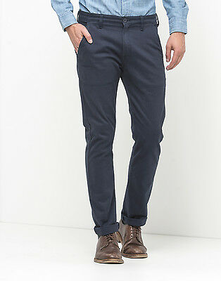PANTALONI CHINO UOMO Regular Fit Basic Cotone GIROGAMA Blu