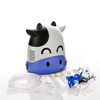 Inhaler Piston Nebulizer Compressor  For Children Child Kids Respiratory (Cow)