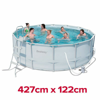 Heavy Duty Bestway Steel Pro Frame Above Ground Swimming Pool 14ft 56263 427cm