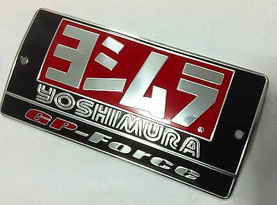 Motorcycle Exhaust Yoshimura Silver Aluminium Decal Muffler Badge Metal Plate  #