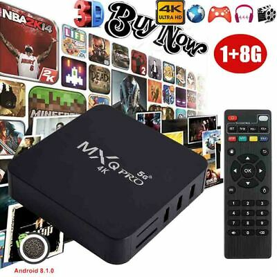 MXQPRO Smart TV Box WIFI Quad Core Android 7.1 1+8G 4K 3D Network Media For USA