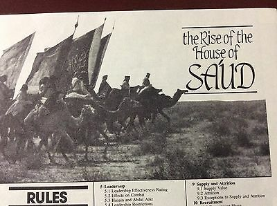 The Rise of the House of Sa'ud Wargamer  - UNPUNCHED  (Avalon Hill, GDW, 3W, SPI