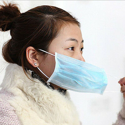 Convenient and safe disposable surgical masks10or50pcs Three Color Beauty Health