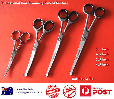 "PROFESSIONAL PET DOG GROOMING CURVED BALL TIP HAIR CUTTING SCISSORS 4.5"" to 7"""