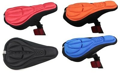 New Bike Seat Cover Gel Bicycle Saddle Cushion Bike Pad Silicone Extra Comfort