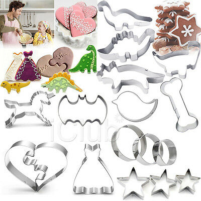 Stainless Steel Biscuit Cookie Pastry Fondant Mold Mould Cutter Cake Decorating