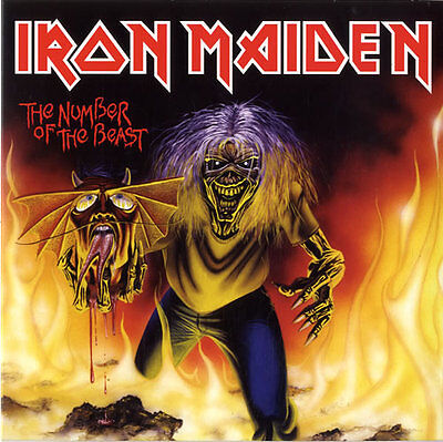 """IRON MAIDEN - The Number Of The Beast - 2014 UK limited edition of the 1982 7"""""""