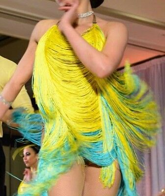 Fringe dance costume with Swarovski rhinestones