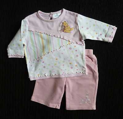 Baby clothes GIRL 0-3m outfit pink Disney Pooh Bear/Piglet top/TU soft trousers