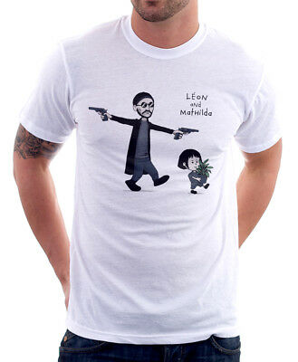 Leon and Mathilda The Professional Natalie Portman Jean Reno t-shirt FN9750
