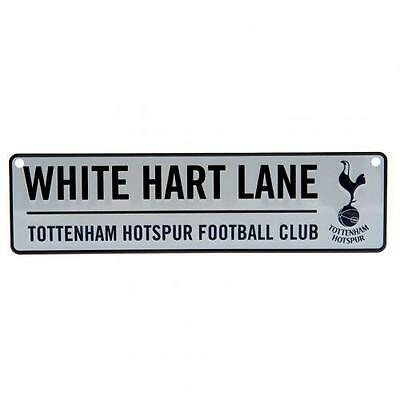 Tottenham Hotspur FC Hanging Metal Novelty Number Plate Sign White Hart Lane