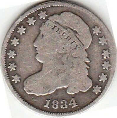 U.s.a. / 10 Cents 1834 Large 4, Capped Bust
