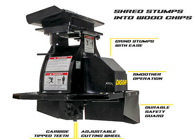 Digga Stump Grinder For Mcloughlin Kanga Dingo Toro Vermeer