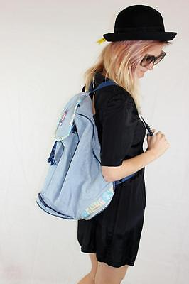 TACHEE Vintage 90s BOHO SURF FESTIVAL  Chambray BACKPACK Mint