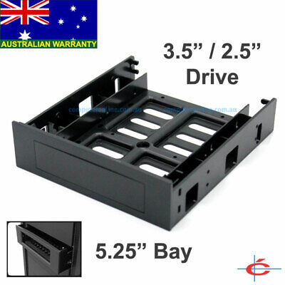 "Desktop Computer 3.5"" inch Device to 5.25"" CD-Rom Bay Converter Frame Bracket"