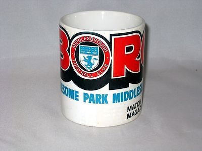 Middlesbrough Football Programme Collectionneurs Grand Neuf MUG