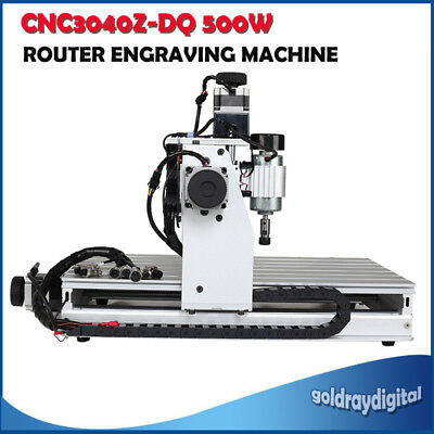 2016 CNC3040Z-DQ 3axis 500W Router Engraver With Limit Awitch 1204 Ball Screw
