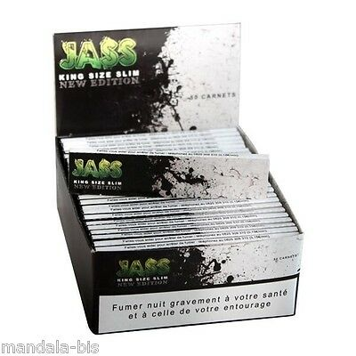 JASS SLIM Set of 50 Booklets of 33 Leaves Rolling (King Size Rolling Paper)