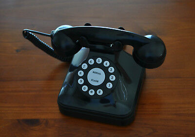 New 50's Black Antique Classic Desk Desktop Corded Phone Home Office Telephone