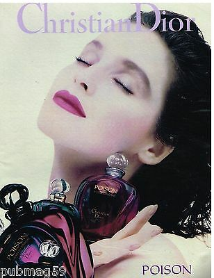 Publicité Advertising 1990 Parfum Eau de Toilette Poison Christian Dior