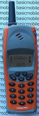 Ericsson R250 Pro Hell Orange ATTRAPPE NICHT ZÜNDUNG DISPLAY MODELL Handy