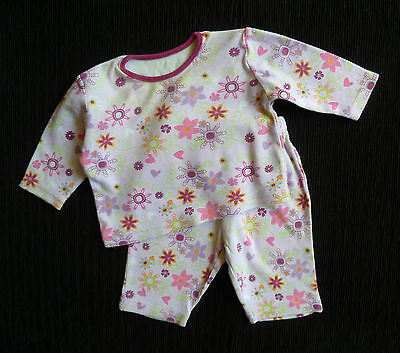 Baby clothes GIRL 0-3m outfit/pyjamas mauve floral 2nd item post-free! SEE SHOP!