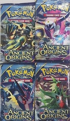 Pokemon TCG XY Ancient Origins Factory Sealed Booster Pack Lot x4 - FREE SHIP
