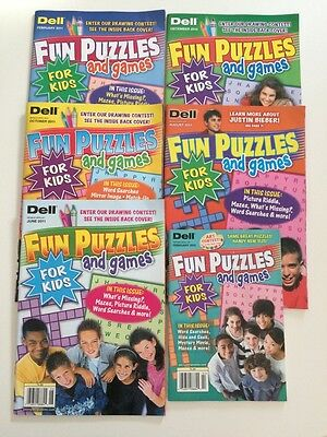 Lot of 6 Dell Fun Puzzles & Games for Kids Crossword $23.94 retail! Word Search