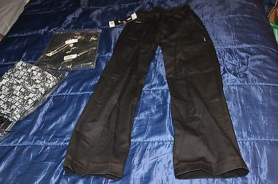 "Stunning Chef Works Chef Pants Black ""Professional Series"" xs"