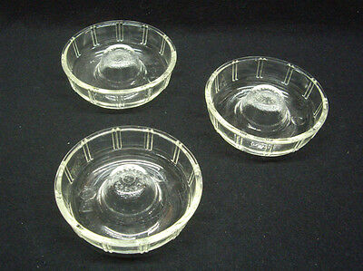 Glasbake Clear Glass Flan Mold, set of 3. #1091