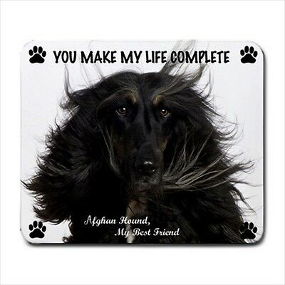 New Design Cute Adorable AFGHAN HOUND Dog Puppy Rubber Computer MOUSE PAD Mat