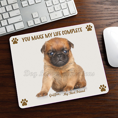 New Design Cute Adorable BRUSSELS GRIFFON Dog Puppy Rubber Computer MOUSE PAD