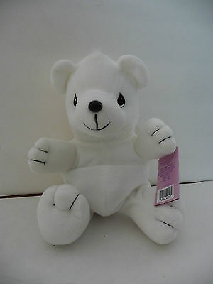 Precious Moments Tender Tails White Stuffed Animal BEAR #382027 Plush