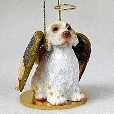 Clumber Spaniel Angel Dog Holiday Ornament Tiny Ones Statue Figurine NEW