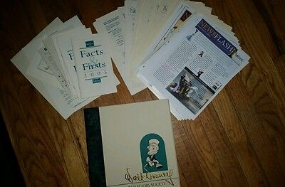 """Walt disney collectors society box with """"facts and firsts"""" and """"news flash"""""""