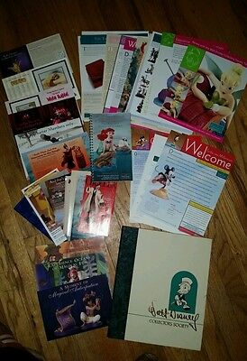 Walt Disney Collectors Society literature, 4 redemtion booklets and Box