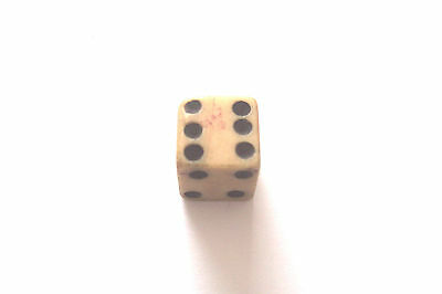 GEORGIAN DUTY STAMPED DICE GEORGE 111 THIRD LARGE 12mm SQUARE